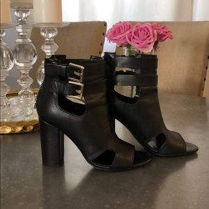 Zara open toe boots